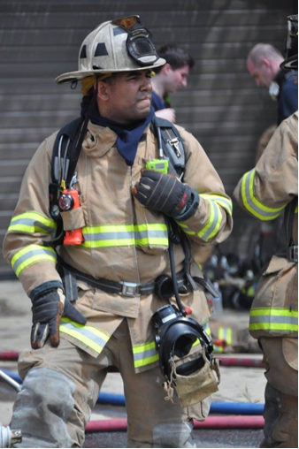 Chief Christopher Jones pictured in turnout gear at a training exercise.